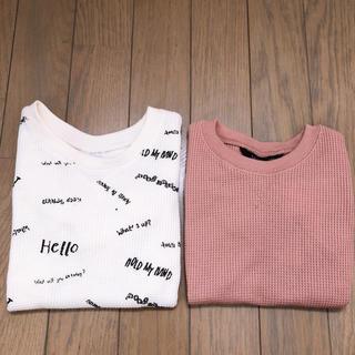 フタフタ(futafuta)のフタフタ*ワッフルTシャツ90(Tシャツ/カットソー)
