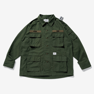 W)taps - 新作wtaps neighborhood  jungle LS OD オリーブ