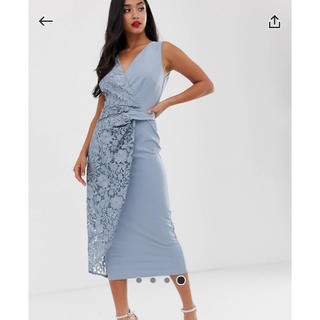 リプシー(Lipsy)のリトルミストレス リプシー レースデザインタイトミディアドレス(ミディアムドレス)