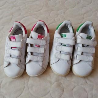adidas - adidas   スタンスミス ベルクロ キッズスニーカー17.0セット