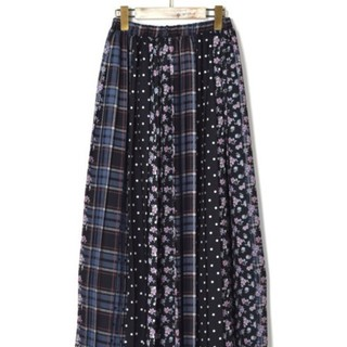 ダブルクローゼット(w closet)のwcloset パッチワーク総柄ロングスカート(ロングスカート)