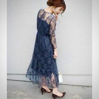 URBAN RESEARCH ROSSO - kaeneグレーオールレースワンピースドレス♡カエン