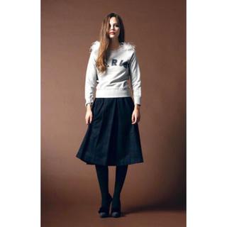 ニーナミュウ(Nina mew)のNinamewニーナミュウ ウールタックスカート チェックスカート(ひざ丈スカート)