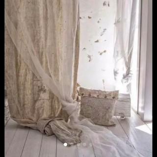 フレンチカーテン。最終値下げ(カーテン)