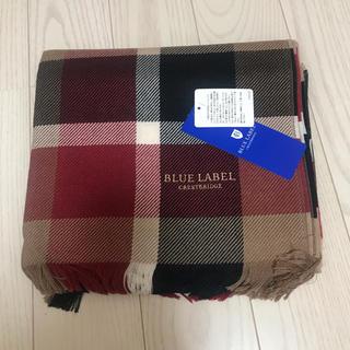 BURBERRY BLUE LABEL - 新品 ブルー レーベル クレストブリッジ マフラー