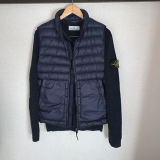 STONE ISLAND - stone island cotton wool knit Vネック ニット M