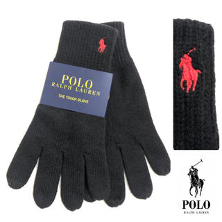 ポロラルフローレン(POLO RALPH LAUREN)の【未使用】ラルフローレン ニット グローブ スマホ タッチパネル 対応 手袋(手袋)