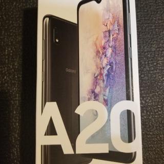 SAMSUNG - au Galaxy A20 SCV46 ブラック SIMロック解除済 判定○