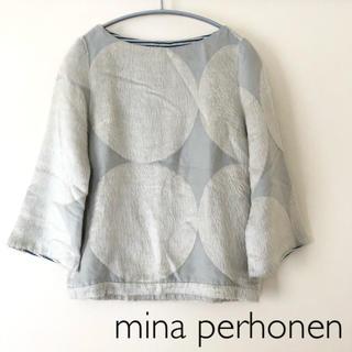 ミナペルホネン(mina perhonen)のmina perhonen cat circle 7分袖 カットソー(カットソー(長袖/七分))