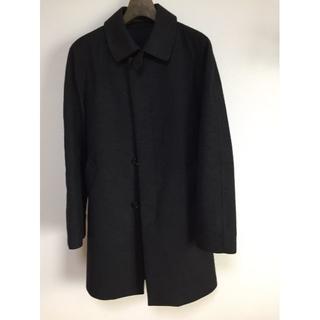 トゥモローランド(TOMORROWLAND)のトゥモローランド コート ブラック メンズM(ステンカラーコート)