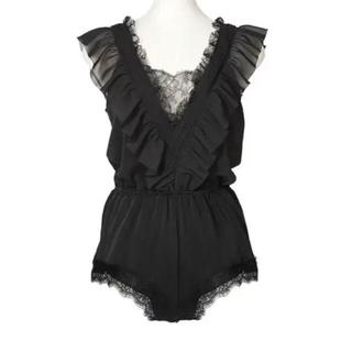 snidel - 【新品未使用】Maison Lace-Trimmed Playsuit