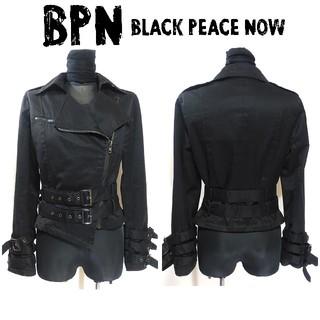 BLACK PEACE NOW - BPN ブラックピースナウ ライダース ジャケット 黒 M V系 レディース