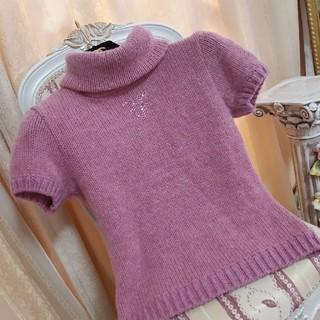 フェンディ(FENDI)のFENDI/ラインストーン付きセーター/ピンク(ニット/セーター)