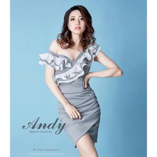 Andy - an ドレス アシメレイヤードフリルショルダータイトドレス GMS-V372