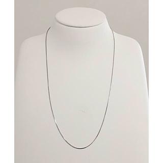 初売りフェア! 新品 k18wg ホワイト ネックレス チェーン ベネチア(ネックレス)