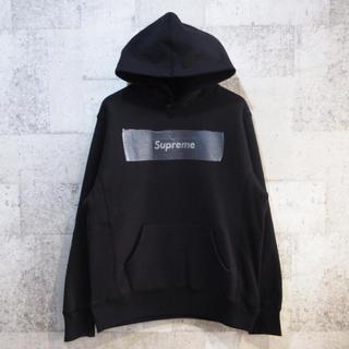 シュプリーム(Supreme)のシュプリーム×スワロフスキー 25th アニバーサリー ボックスロゴパーカー 黒(パーカー)