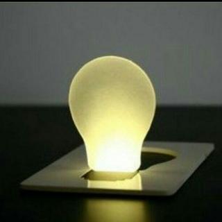 カード型LEDライト 防災・インテリア・赤ちゃんライト節約  送料込