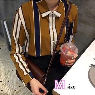 Lily Brown - ブラウンストライプシャツ