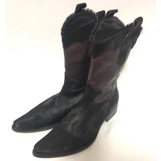 【新品/未使用品】FABIANO RICCI ハラコ革ロングブーツ EU40(ブーツ)