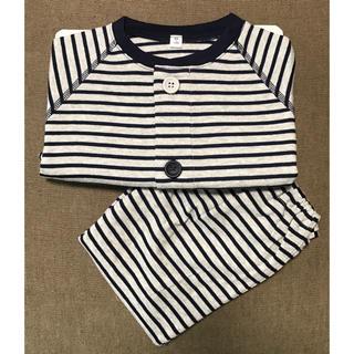 MUJI (無印良品) - 無印良品 新品 子どもパジャマ 長袖長ズボン 90-100