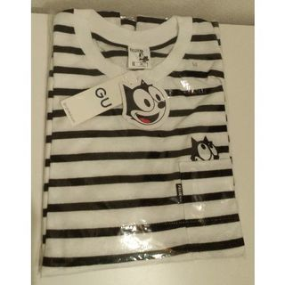GU - 新品 フィリックス M ビッグT 白黒 gu ポケット付き Tシャツ felix