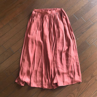 GLACIER ロングスカート くすみオレンジ《Mサイズ》(ロングスカート)