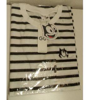 GU - 新品 フィリックス S ビッグT 白黒 gu ポケット付き Tシャツ felix