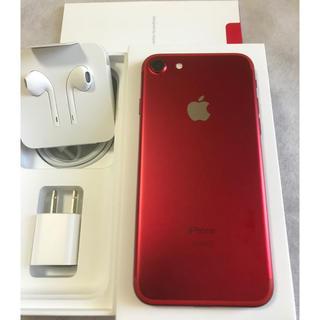 Apple -  iPhone 7 128GB red  SIMフリー【超美品】