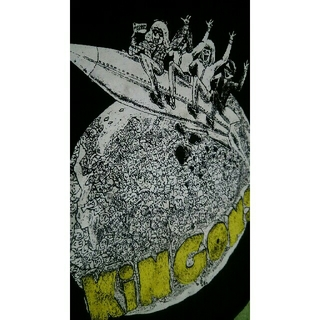 Kingons キンゴンズ Tシャツ ブラック ※加工有(ミュージシャン)