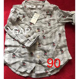 GAP - ミッキーマウス チェックシャツ