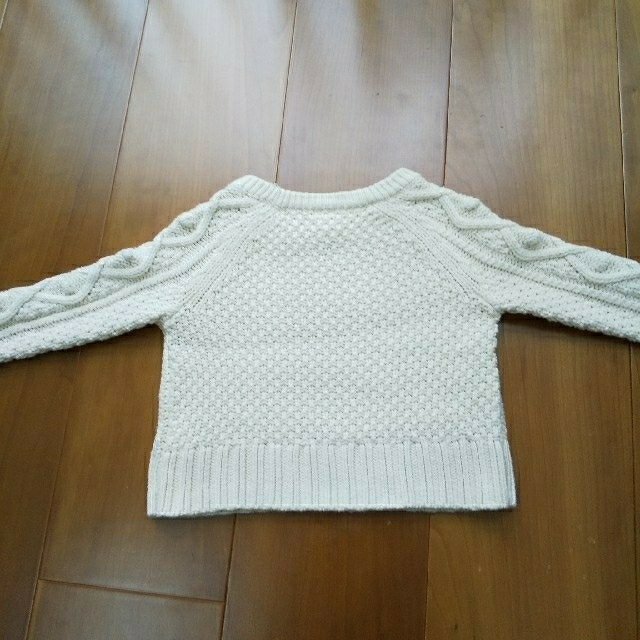 GAP(ギャップ)のGAP ケーブル編み コットンニット 80cm 70cm キッズ/ベビー/マタニティのベビー服(~85cm)(ニット/セーター)の商品写真