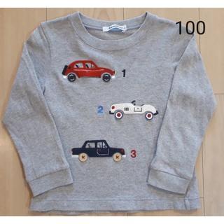 familiar - 長袖Tシャツ 100 ファミリア グレー ロンT