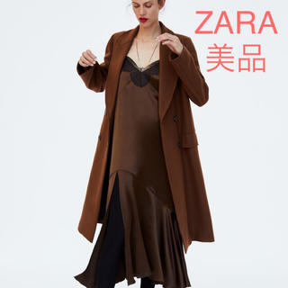 ZARA - ZARA ロングコート ブラウン