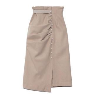 snidel - ドレープデザインタイトスカート SNIDEL ベージュ 0サイズ