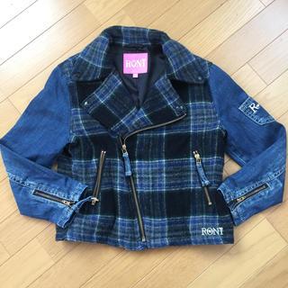 ロニィ(RONI)の美品 ロニィ ウールジャケット チェック gジャン(ジャケット/上着)