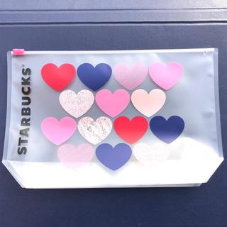 Starbucks Coffee - スターバックス バレンタイン ハート ビニールポーチ /  STARBUCKS