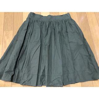 シマムラ(しまむら)のモスグリーンスカート/しまむら(ひざ丈スカート)