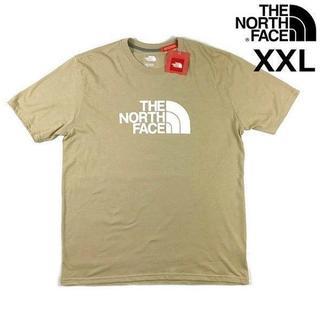 THE NORTH FACE - ノースフェイス ハーフドームロゴ半袖 Tシャツ(XXL)ベージュ 180902