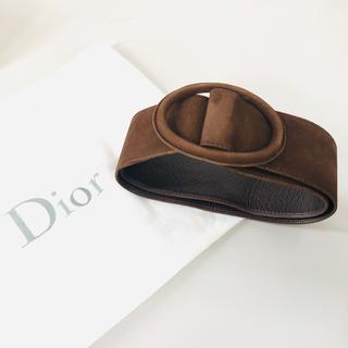 ディオール(Dior)のDior ディオール レザーベルト ブラウン 茶色(ベルト)