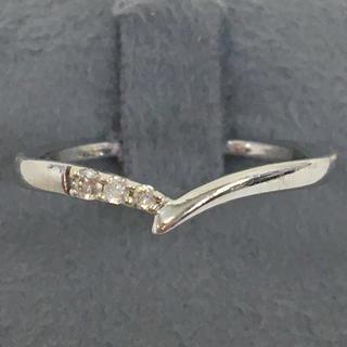 ヨンドシー(4℃)の正規品 4°C K10 ホワイトゴールド ダイヤモンド リング 指輪 送料込み(リング(指輪))