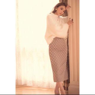 エイミーイストワール(eimy istoire)のeimyistoire パールタイトスカート S 新品(ひざ丈スカート)