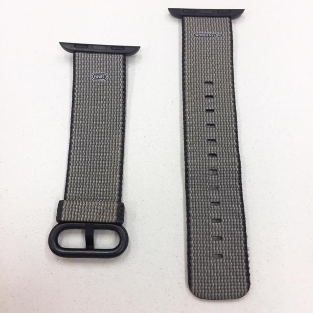 Apple Watch(アップルウォッチ)のアップル 純正 黒 ウーブンナイロン アップルウォッチ 38mm 40mm スマホ/家電/カメラのスマホ/家電/カメラ その他(その他)の商品写真
