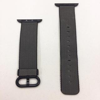 Apple Watch - アップル 純正 黒 ウーブンナイロン アップルウォッチ 38mm 40mm