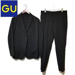 ジーユー(GU)のGU シアサッカー セットアップ  黒(セットアップ)
