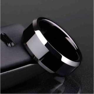 チタンブラックリング (ブラック)  サイズ:18号(リング(指輪))
