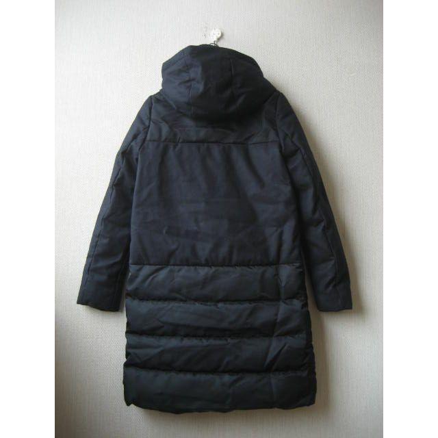 theory(セオリー)のtheory フード付 切替ダウンコート ウール×ナイロン ネイビー 定価9万 レディースのジャケット/アウター(ダウンコート)の商品写真