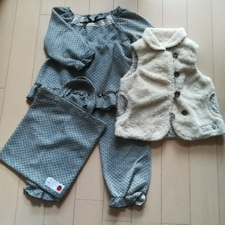 ビケット(Biquette)のパジャマ&ベスト セット売り 110サイズ(パジャマ)