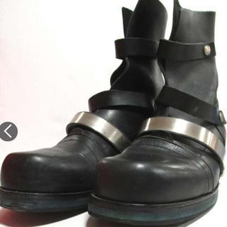 ダークビッケンバーグ(DIRK BIKKEMBERGS)のdirk bikkembergs メタル ベルト レザー ブーツ ビッケンバーグ(ブーツ)