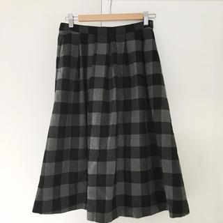 スタディオクリップ(STUDIO CLIP)のスタディオクリップ ブロックチェック柄スカート 美品(ロングスカート)