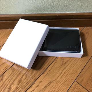 アウディ(AUDI)のアウディ非売品 牛革 パスケース カードケース 名刺入れ 箱あり(名刺入れ/定期入れ)